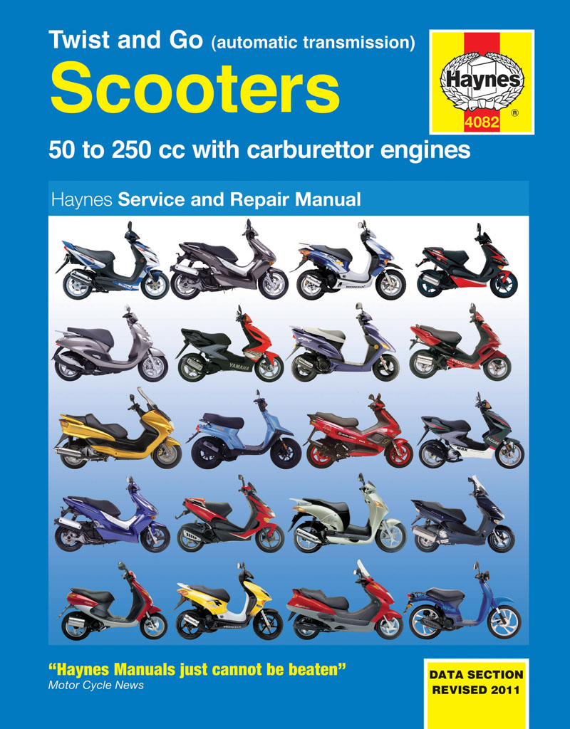 Twist and Go (automatic transmission) Scooters Service and Repair Manual -  Haynes VerkstadhanbokHaynes Verkstadhanbok