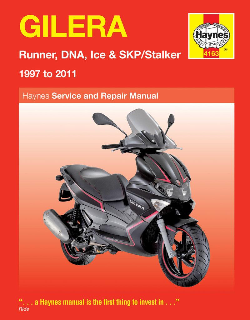 Gilera Runner, DNA, Ice & SKP/Stalker (97 - 11) Haynes Repair Manual -  Haynes VerkstadhanbokHaynes Verkstadhanbok