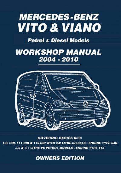 Workshop & service manual mercedes-benz vito and v-class cdi.