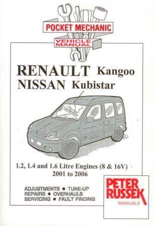 Renault Kangoo, Nissan Kubistar Petrol (01-06)