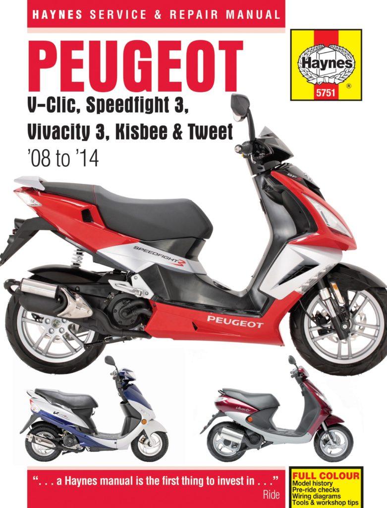 Peugeot V-Clic, Speedfight 3, Vivacity 3, Kisbee & Tweet (08 to 14) -  Haynes VerkstadhanbokHaynes Verkstadhanbok