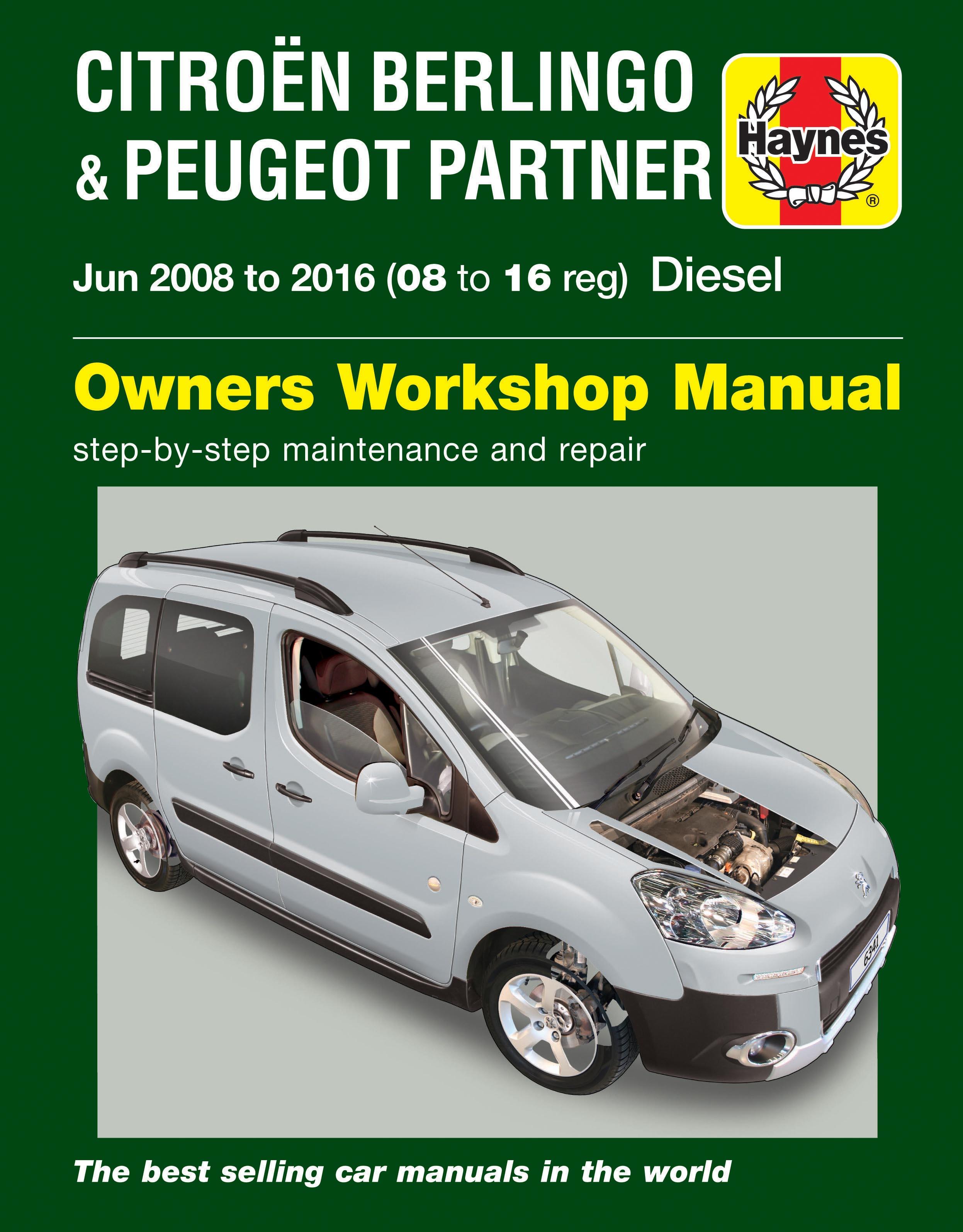 Citroen Berlingo & Peugeot Partner Diesel (June 08 – 16)